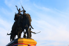 Suriyothai monument at  Ayudhaya province, Thailand Royalty Free Stock Photos