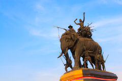 Suriyothai monument at  Ayudhaya province, Thailand. The famous travelling spot in Ayutthaya province of Thailand Stock Photography