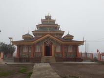 Surkanda Devi寺庙, Kanatal 免版税库存照片