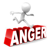 Surmontez la colère Images libres de droits