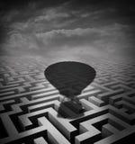 Surmontez le concept d'obstacles Image libre de droits