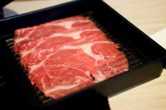 Surowa świeżo przygotowana pokrojona wołowina fotografia royalty free