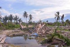 Surowa Awaryjna trzęsienia ziemi stopienia Petobo centrala Sulawesi obrazy royalty free