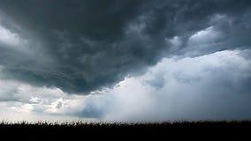 Surowa burzy błyskawica Illinois zbiory