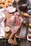 Surowa jagnięca noga Zdjęcie Stock