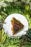 Surowa karmowa kanapka Zdjęcia Royalty Free