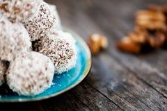 Surowe czekoladowe trufle Fotografia Stock