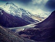 Surowe góry - widok himalaje, India Fotografia Stock