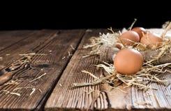 surowe jajka Zdjęcia Stock