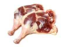 Surowe kaczek nogi Fotografia Royalty Free
