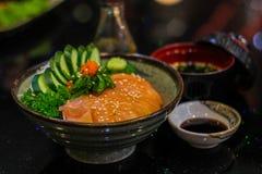Surowego i świeżego sashimi rybi mięso - Japoński jedzenie styl Zdjęcia Royalty Free