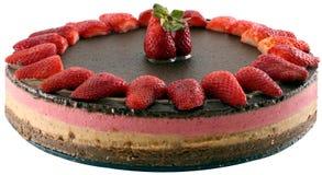 Surowego karmowego weganinu Neapolitan tort Zdjęcie Royalty Free