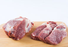 surowego mięsa w szyję Obrazy Royalty Free