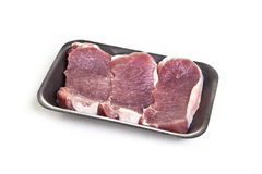 Surowego mięsa stki w pakunku Zdjęcie Royalty Free