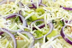 Surowego warzywa quiche Zdjęcia Royalty Free