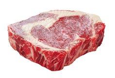 Surowego wołowina ziobro oka świeży stek, zakończenie Fotografia Royalty Free