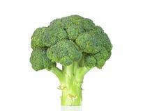 Surowi brokuły odizolowywający na białym tle zdjęcie royalty free