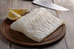 Surowi codfish polędwicowi Obraz Royalty Free