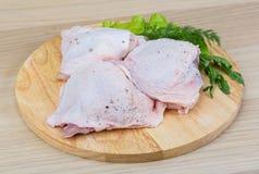 surowi kurczaków uda fotografia stock
