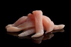 Surowi kurczaka mięsa plasterki. Obraz Royalty Free