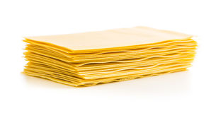 Surowi lasagne prześcieradła Obrazy Royalty Free