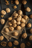 Surowi Organicznie Cali orzechy włoscy Zdjęcie Royalty Free