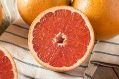 Surowi Organicznie Rubinowi Czerwoni Grapefruits fotografia stock