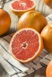 Surowi Organicznie Rubinowi Czerwoni Grapefruits obraz royalty free
