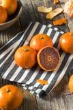 Surowi Organicznie Rubinowi tango Krwionośnej pomarańcze Clementines obraz royalty free