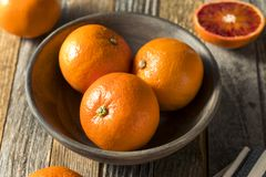 Surowi Organicznie Rubinowi tango Krwionośnej pomarańcze Clementines obrazy royalty free