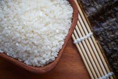 Surowi uncooked suszi ryż obrazy stock