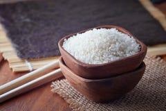 Surowi uncooked suszi ryż fotografia royalty free