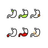 Surowi warunki w żołądków zdrowie royalty ilustracja