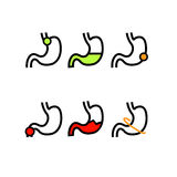 Surowi warunki w żołądków zdrowie Zdjęcia Stock
