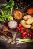 Surowi warzywa z pikantność fotografia royalty free