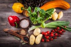 Surowi warzywa z pikantność zdjęcia stock