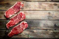 surowi wołowina stki fotografia stock