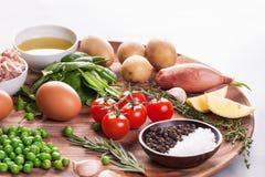 Surowi zdrowi dieting produkty obrazy royalty free