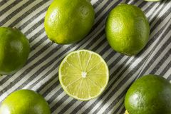 Surowi Zieleni Organicznie cytrusów wapno Obraz Stock