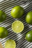 Surowi Zieleni Organicznie cytrusów wapno Fotografia Stock