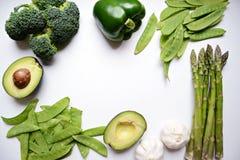 Surowi zieleni warzywa Zdjęcie Stock