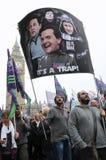 Surowość londyński Protest obraz royalty free