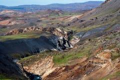 Surowo niewygładzony teren powulkaniczny krajobraz zdjęcie royalty free