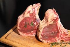 Surowy świeżego mięsa Ribeye stek Mięso dla stku surowe mięso Obrazy Stock