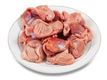 surowy świeży kurczaka gizzard Fotografia Stock