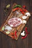 surowy świeży mięso fotografia stock