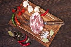surowy świeży mięso obrazy stock