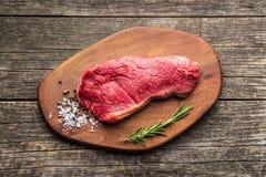surowy świeży wołowiny mięso Zdjęcia Stock
