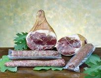 surowy baleronu salami Zdjęcie Stock