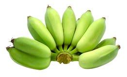 Surowy banan odizolowywający na białym tle z ścinek ścieżką obraz royalty free